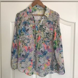 Express Watercolors Floral  Portifino Shirt